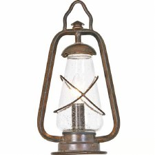 Elstead Miners Pedestal Lantern Light