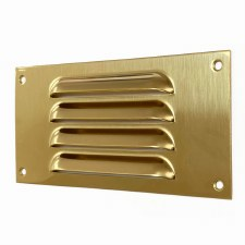 "Louvre Air Vent 6"" x 3"" Mini Polished Brass Unlacquered"