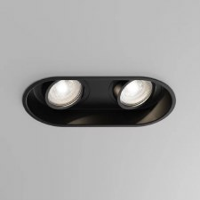 Minima Twin Adjustable Round Spot Light Black