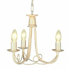 Elstead Minster 3 Arm Chandelier Ivory Gold