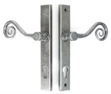 From The Anvil Monkeytail Slim Espagnolette Door Lock Handle Pewter