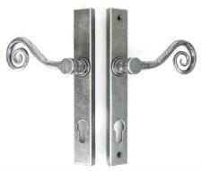From The Anvil Monkeytail Slim Espagnolette Door Lock Handle Pewter