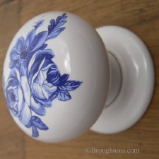 Mortice Knobs Porcelain Blue Swansea