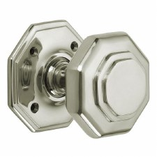 "Croft 4180 3"" Octagonal Door Knobs Polished Nickel"