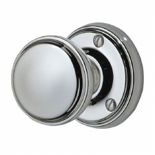Victorian Constable 601 Door Knobs Polished Chrome