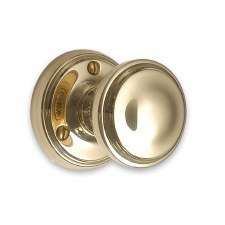 Victorian 603/1 Door Knobs Polished Brass Unlacquered