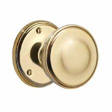 Victorian 603/2 Door Knobs Polished Brass Unlacquered