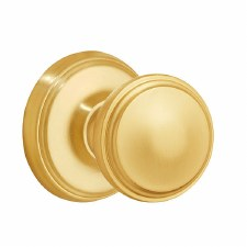 Victorian 603/2 Door Knobs Satin Brass Lacquered
