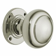 "Croft 6344 3"" Round Door Polished Nickel"