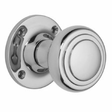 Croft 6348 Stepped Cushion Door Knob Polished Chrome