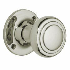 Croft 6348 Stepped Cushion Door Knob Polished Nickel