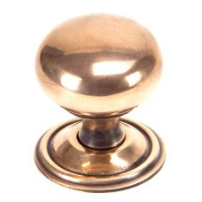 From The Anvil Mushroom Cabinet Knob Polished Bronze Large