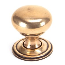 From The Anvil Mushroom Cabinet Knob Polished Bronze Small