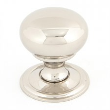 From The Anvil Mushroom Cabinet Knob Polished Nickel Small