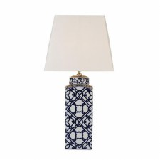 Mystic Ceramic Table Lamp Blue & White