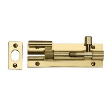 "Heritage Wide Necked Bolt C1592 4"" Polished Brass"