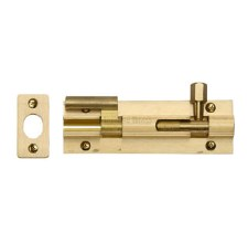 "Heritage Wide Necked Bolt C1592 4"" Satin Brass"