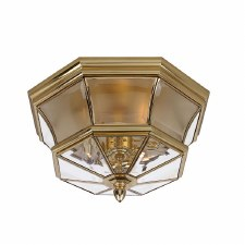 Quoizel Newbury Bathroom Flush Light Polished Brass