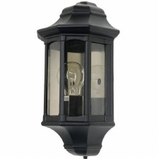 Elstead Newbury Outdoor Flush Wall Light Lantern Black