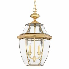 Quoizel Newbury Large Chain Lantern Polished Brass