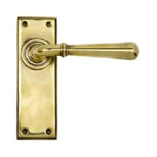 From The Anvil Newbury Lever Latch Set Aged Brass