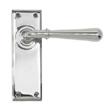 From The Anvil Newbury Lever Latch Set Polished Chrome