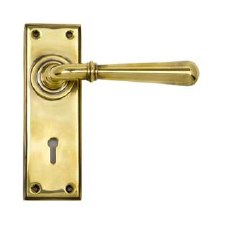 From The Anvil Newbury Lever Lock Set Aged Brass