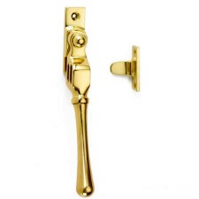 Croft Night Vent Window Handle Bulb End Polished Brass Unlacquered