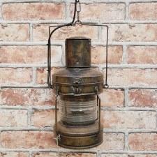 Anchor Lantern Light Antique Brass ES
