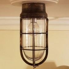 Wheelhouse Flush Ceiling Light, Light Antique Brass