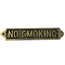 No Smoking sign Polished Brass