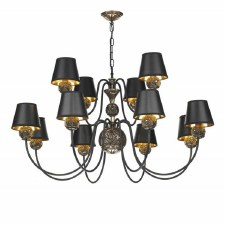 David Hunt NOV1263 Novella 12 Light Chandelier Bronzed