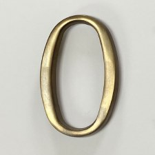 Aston Numeral 0 Pin Fix Antique Brass