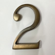 Aston Numeral 2 Pin Fix Antique Brass