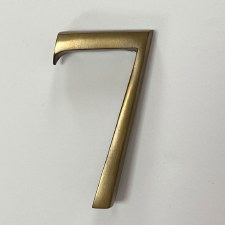 Aston Numeral 7 Pin Fix Antique Brass