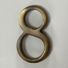 Aston Numeral 8 Pin Fix Antique Brass