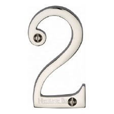 Heritage House Number 2 C1560 Polished Nickel
