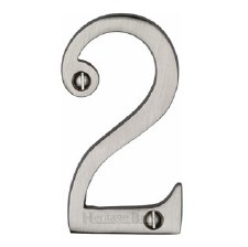 Heritage House Number 2 C1560 Satin Nickel