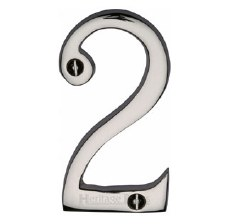 Heritage House Number 2 C1561 Polished Nickel