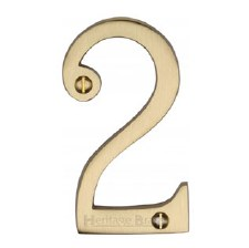 Heritage House Number 2 C1561 Satin Brass