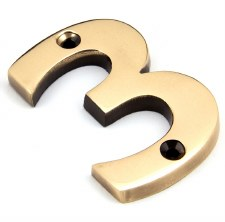 From The Anvil Numerals 3 Polished Bronze