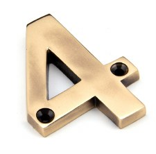 From The Anvil Numerals 4 Polished Bronze