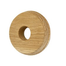 Round Oak Patress for Bell Pushes - Oak