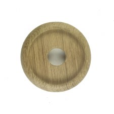 "Circular Oak Patress for 3"" Bell Pushes"