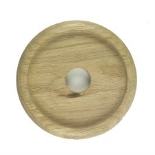 "Circular Oak Patress for 4"" Bell Pushes"
