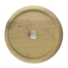"Circular Oak Patress for 5"" Bell Pushes"