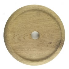 "Circular Oak Patress for 6"" Bell Pushes"