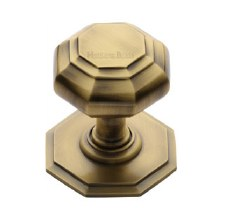 Heritage V890 Centre Door Knob Antique Brass Lacquered