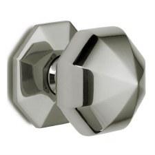 Croft 1751 Octagonal Door Knobs 76mm Polished Nickel