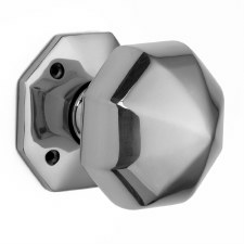 Croft Octagonal Rim Knobs 76mm Polished Chrome